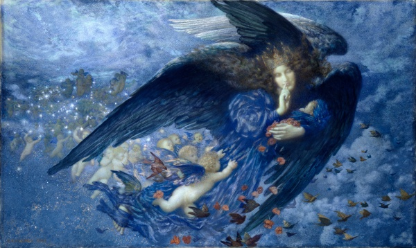 Edward_Robert_Hughes_-_Night_with_her_Train_of_Stars_-_Google_Art_Project