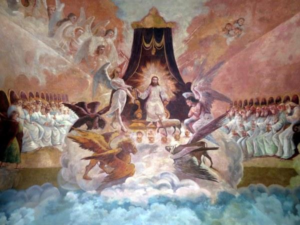 Catedral_de_la_Purísima_Concepción_(Tepic,_Nayarit)_-_portal_vault_mural_of_Revelation_Chapter_3