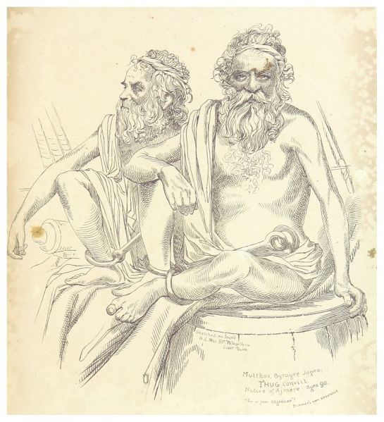 ORIENTAL_HEADS_p099_Multhoo_Byragee_Jogee._T'hug_Convict,_Native_of_Ajmere,_aged_90