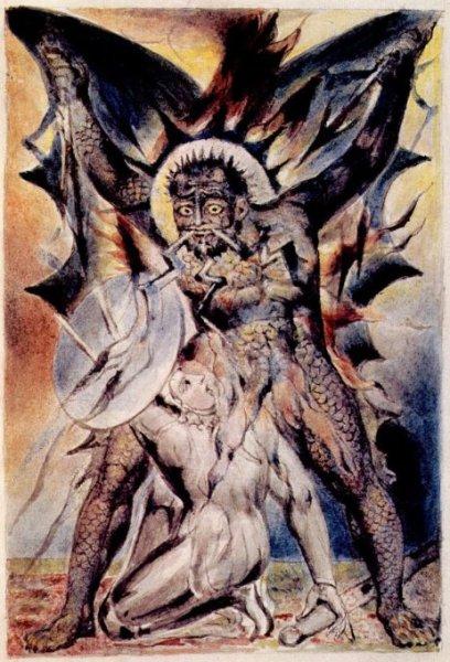 William_Blake_-_John_Bunyan_Plate_20_The_Christian_Fights_Apollyon