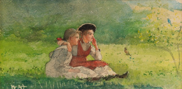 Winslow_Homer_-_Listening_to_the_birds